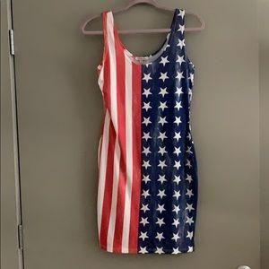 Distressed American Flag Dress